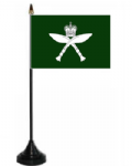 Royal Gurkhas Desk / Table Flag with plastic stand and base.